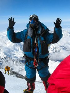 Scott Kress on the summit of Everest