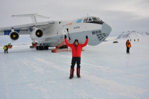 landing on the Blue Ice runway in Antarctica